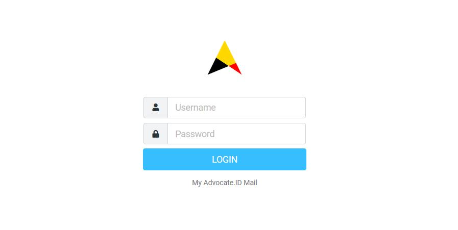 Login Email cara Advokat daftar ecourt secara online