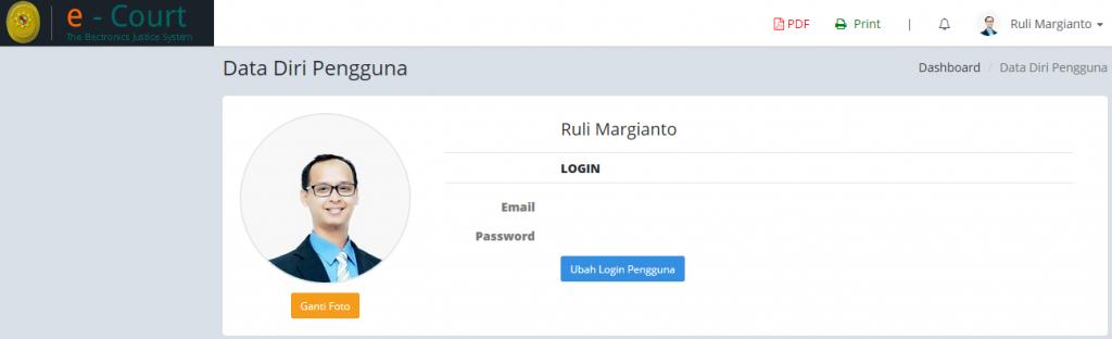 ganti profil_opsional cara Advokat daftar ecourt secara online